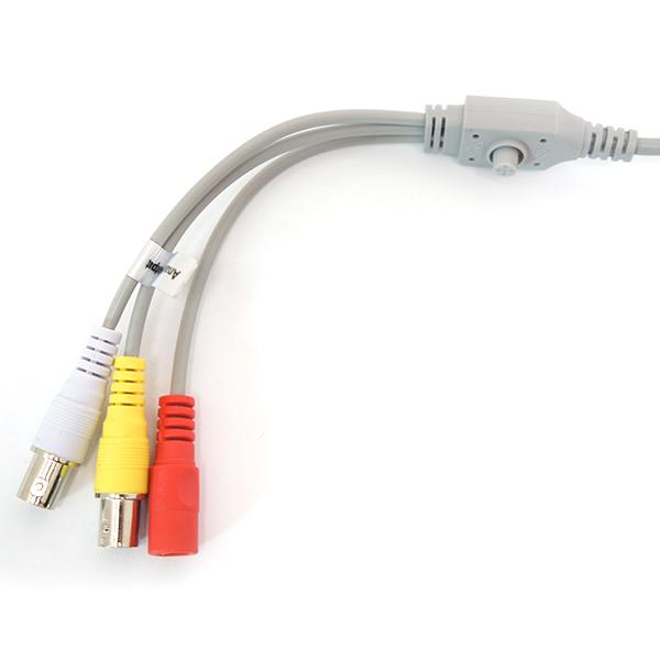 HDOB-SB2IRZB Sibell Quad Bullet 2 mega Pixel in Black Side cables