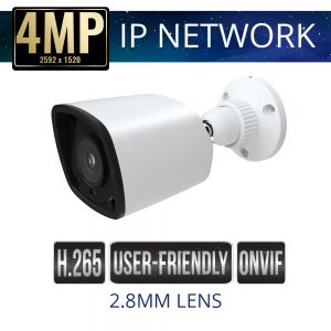2.8mm 4mp Economy IP Bullet Camera Weatherproof with IR