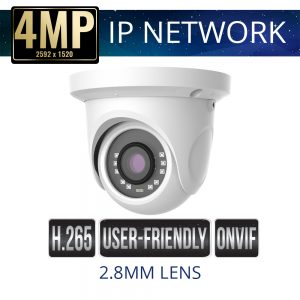 2.8mm 4mp Economy IP Dome Camera Weatherproof with IR