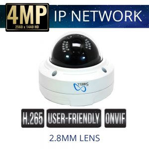 4mp IP Vandal-proof Dome with IR & 2.8mm fixed lens