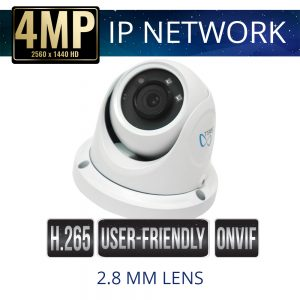 4mp IP Dome Security Camera with 2.8mm Lens