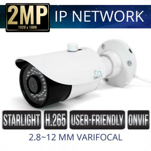 2mp IP Network Bullet Camera Weatherproof with IR