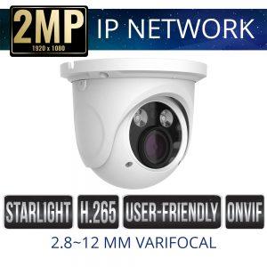 2mp IP Network Dome Camera Weatherproof with IR